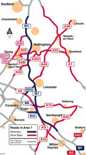 Map Of England Road Network.New Framework Sees Volkerlaser Provide Expertise To Highways England