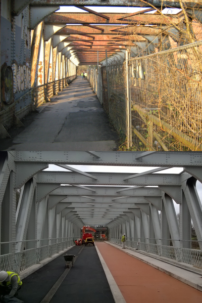 Ashton bridge - before and after