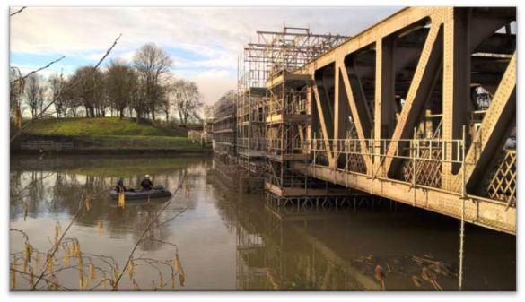 ashton swing bridge scaffolding square
